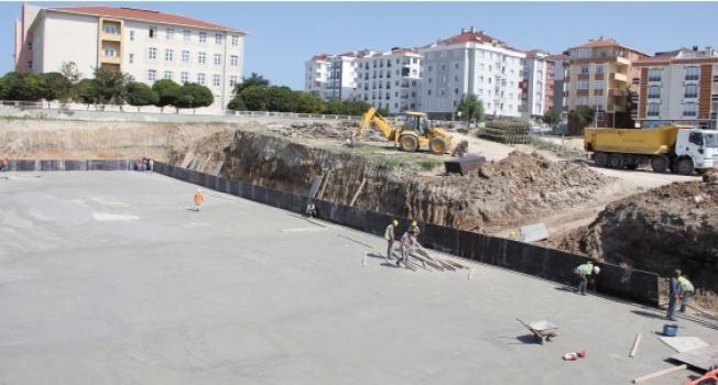 ÇOSB 32 derslikli ortaokulun inşaatına başladı
