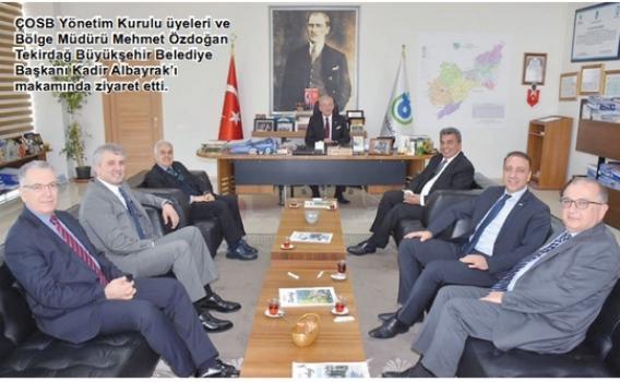 ÇOSB yönetiminden başkanlara başarı dileği