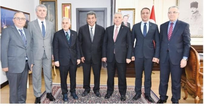ÇOSB yönetiminden Tekirdağ Valisi'ne ziyaret