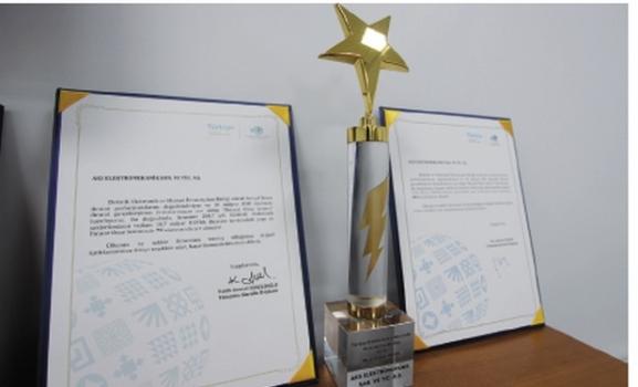 Aks Elektromekanik'e 'İhracat Onur Ödülü' verildi…