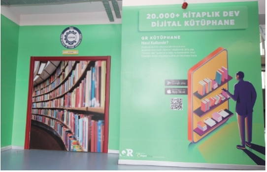 QR Kütüphane Platformu Özel ÇOSB Mesleki ve Teknik Anadolu Lisesinde uygulanmaya başlandı