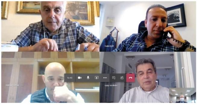 ÇOSB Yönetim Kurulu video konferansla toplandı…
