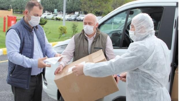 ÇOSB'deki fabrikalara maske dağıtımı yapıldı…