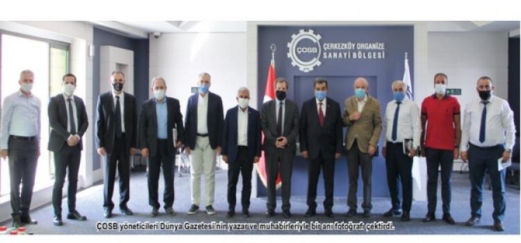 Dünya Gazetesi'nden ÇOSB'ye ziyaret