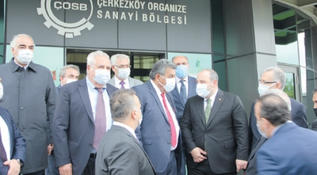Sanayi ve Teknoloji Bakanı Varank'tan ÇOSB'ye ziyaret