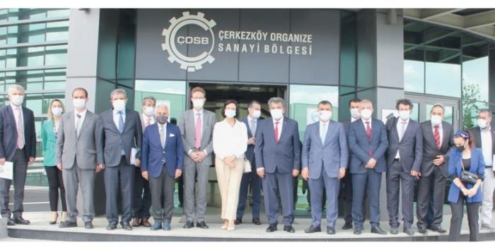 AB Türkiye Delegasyonu ÇOSB'yi ziyaret etti