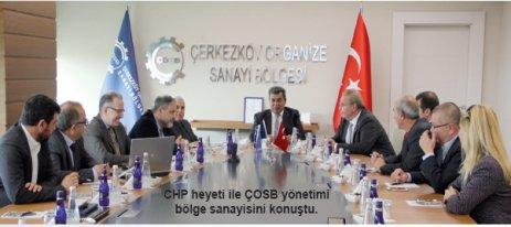AK Parti ve CHP'den ÇOSB'ye ziyaret