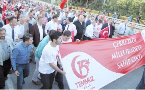 Çerkezköy'de 15 Temmuz etkinlikleri yoğun katılımla gerçekleştirildi