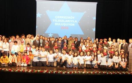 Çerkezköy'ün yıldızlarına ÇOSB'de ödül dağıtıldı