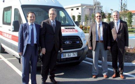 ÇOSB'den 112 Acil Servis'e tam donanımlı ambulans