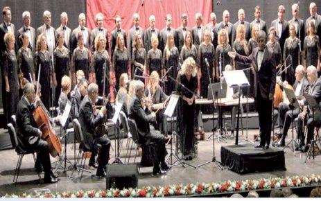 Cumhurbaşkanlığı Klasik Türk Müziği Korosu ÇOSB'de sahne aldı
