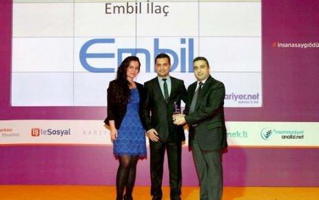 Embil İlaç'a 'İnsana Saygı Ödülü'