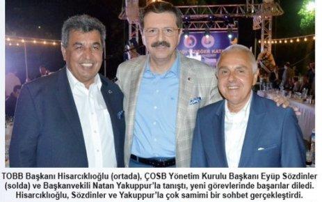 Hisarcıklıoğlu: ÇOSB Türkiye'nin gözbebeğidir