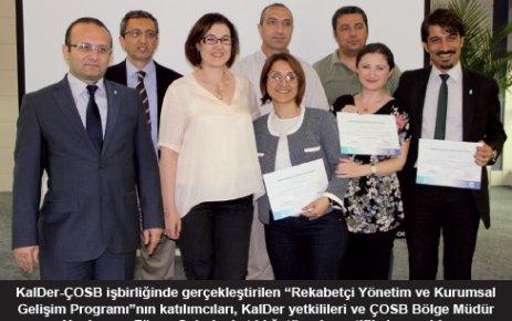 'Rekabetçi Yönetim ve Kurumsal Gelişim Programı' mezunları sertifikalarını aldı
