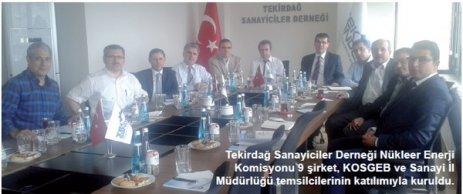 TEKSANDER Nükleer Enerji Komisyonu çalışmalarına başladı