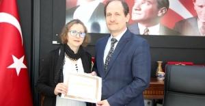 Özel ÇOSB Kreş ve Gündüz Bakımevi'ne teşekkür belgesi