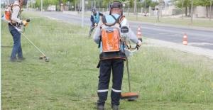 ÇOSB'de çevre dostu elektrikli tırpan