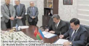 ÇOSB, Azeri üniversitesiyle meslek liseleri arası işbirliği protokolü imzaladı