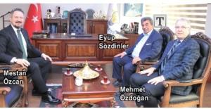 ÇOSB yönetiminden AK Parti Tekirdağ İl Başkanı Mestan Özcan'a ziyaret