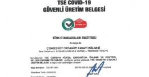 ÇOSB firmaları Güvenli Üretim Belgesi'ni almaya devam ediyor