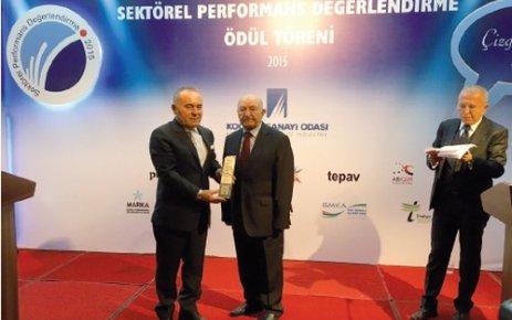 Vastaş'a 'Sektörel Performans' ödülü