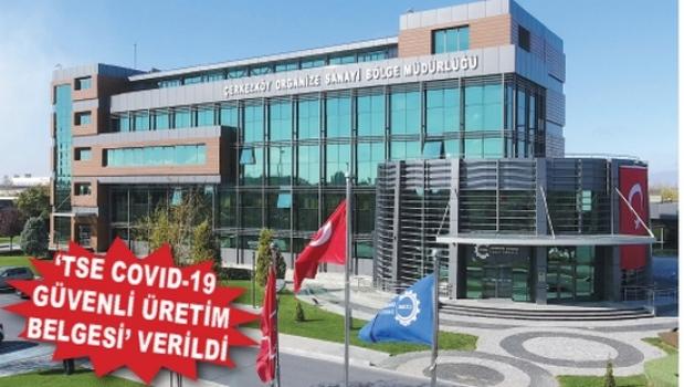 ÇOSB Bölge Müdürlüğü'nün Covid-19 önlemlerini TSE tescilledi