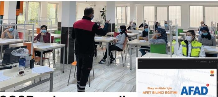 Çerkezköy OSB çalışanlarına online 'Afet Bilinci Eğitimi'