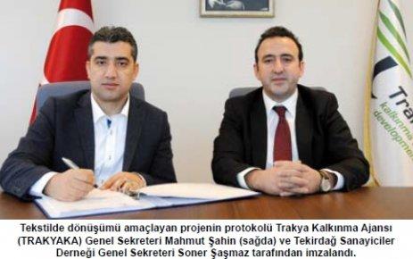 TEKSANDER'in tekstilde dönüşüm projesi Trakya Kalkınma Ajansı tarafından destek kapsamına alındı